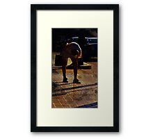 this worlds weight... (cacoons) Framed Print