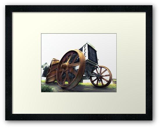vintage tractor by Alexandr Grichenko