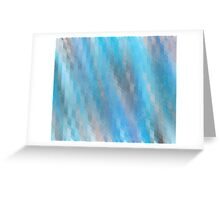 Washed Out Geometric: Blue, Grey and Pink Greeting Card