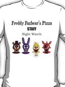 Freddy Fazbear's Pizza Staff - Night Watch T-Shirt