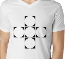 circle squared  Mens V-Neck T-Shirt