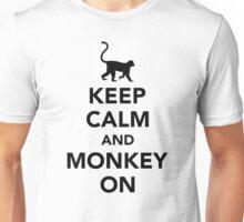 Keep calm and monkey on Unisex T-Shirt
