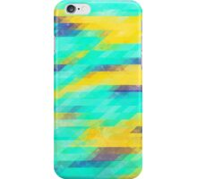 Washed Out Geometric: Aqua, Yellow and Blue iPhone Case/Skin