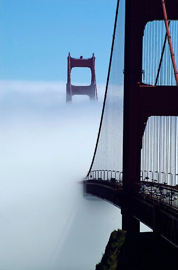 Golden Gate emerging by Brad Levine