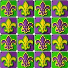 Mardi Gras  pattern by Richard Laschon