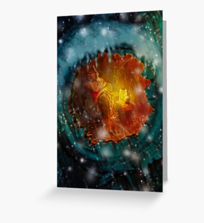 By the Light of Fireflies Greeting Card