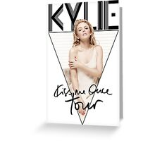 Kylie - Kiss Me Once Tour (Black) Greeting Card