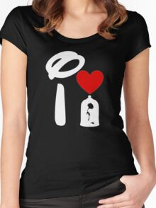I Heart Beauty and The Beast (Inverted) Women's Fitted Scoop T-Shirt