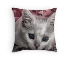 A Kitten Named Raiden Throw Pillow