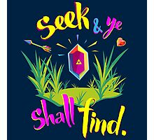 Legend of Zelda Seek and Ye Shall Find Photographic Print