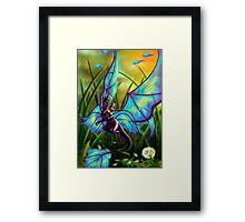 We Ride at Dawn - Mouse Warrior Riding Fairy Dragon Framed Print