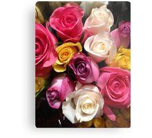 Multi Colored Roses Metal Print