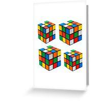 Rubiks Cuboid Greeting Card