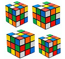 Rubiks Cuboid Photographic Print