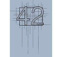 Hitchhiker's Guide to the Galaxy - 42 Photographic Print