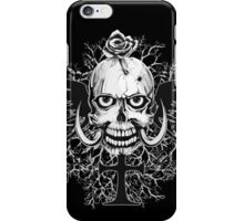 Skull With Rose Cross Illustration iPhone Case/Skin