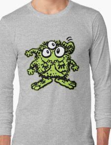 Cute Cartoon Green Monster by Cheerful Madness!! Long Sleeve T-Shirt