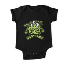 Cute Cartoon Green Monster by Cheerful Madness!! One Piece - Short Sleeve