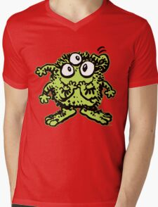 Cute Cartoon Green Monster by Cheerful Madness!! Mens V-Neck T-Shirt