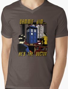 Dammit Jim Mens V-Neck T-Shirt