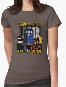 Dammit Jim Womens Fitted T-Shirt