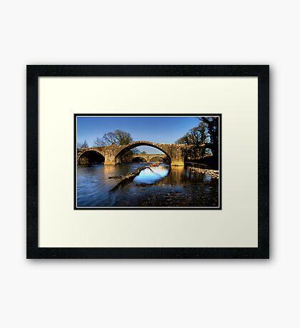 Hodder (Cromwell) bridge old and new Framed Print