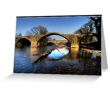 Hodder (Cromwell) bridge old and new Greeting Card