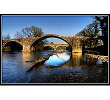Hodder (Cromwell) bridge old and new Photographic Print