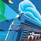 French Riviera Classic Vintage Train Travel Poster by gshapley