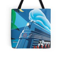 French Riviera Classic Vintage Train Travel Poster Tote Bag