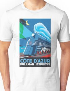 French Riviera Classic Vintage Train Travel Poster Unisex T-Shirt