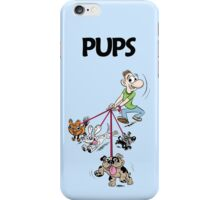 Dog Walker with Cute Puppies iPhone Case/Skin