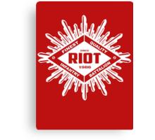 Riot White Canvas Print