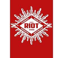 Riot White Photographic Print