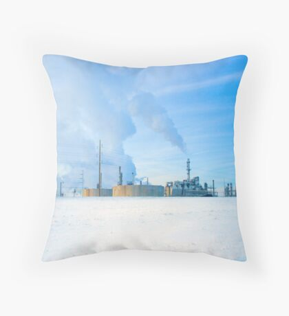 Lovely oil refinery Throw Pillow