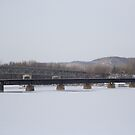Half a train bridge by Andrew Boysen