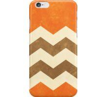 Orange, Brown and Cream Chevron iPhone Case/Skin