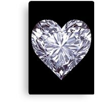 Diamond Heart Canvas Print