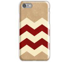 Sandstone, Deep Red and Cream Chevron iPhone Case/Skin