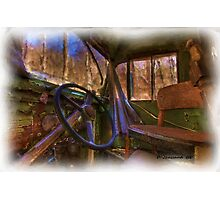 Old wore out bus Photographic Print