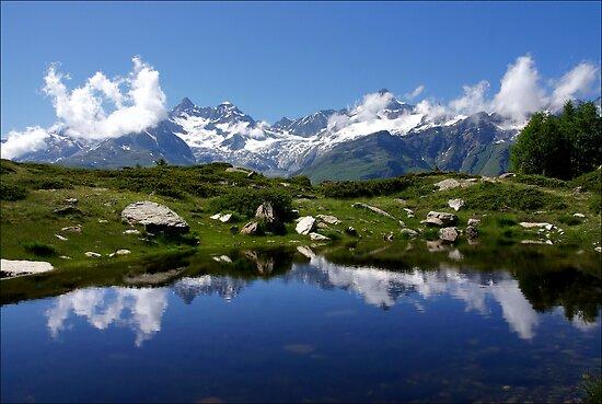 Mountain Lake Switzerland by AnnieSnel