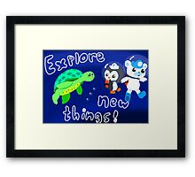 Explore, Rescue, Protect! Framed Print