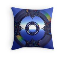 Incendia -- The Black Monarch's Gateway Throw Pillow