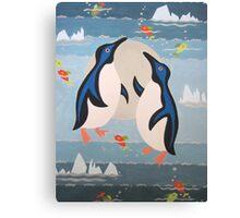 Penguin Pair Canvas Print