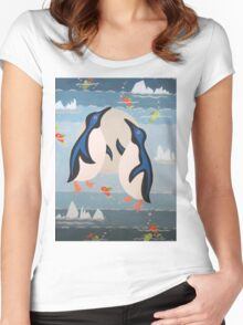 Penguin Pair Women's Fitted Scoop T-Shirt