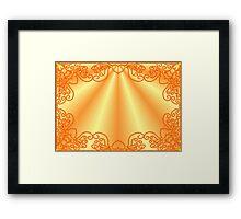 Burning figured frame   Framed Print