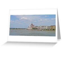 Cruising up the Danube in Budapest. Greeting Card