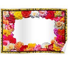 Festive floral frame   Poster