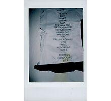 The 1975 Setlist Photographic Print