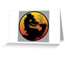 Civilized Kombat Greeting Card